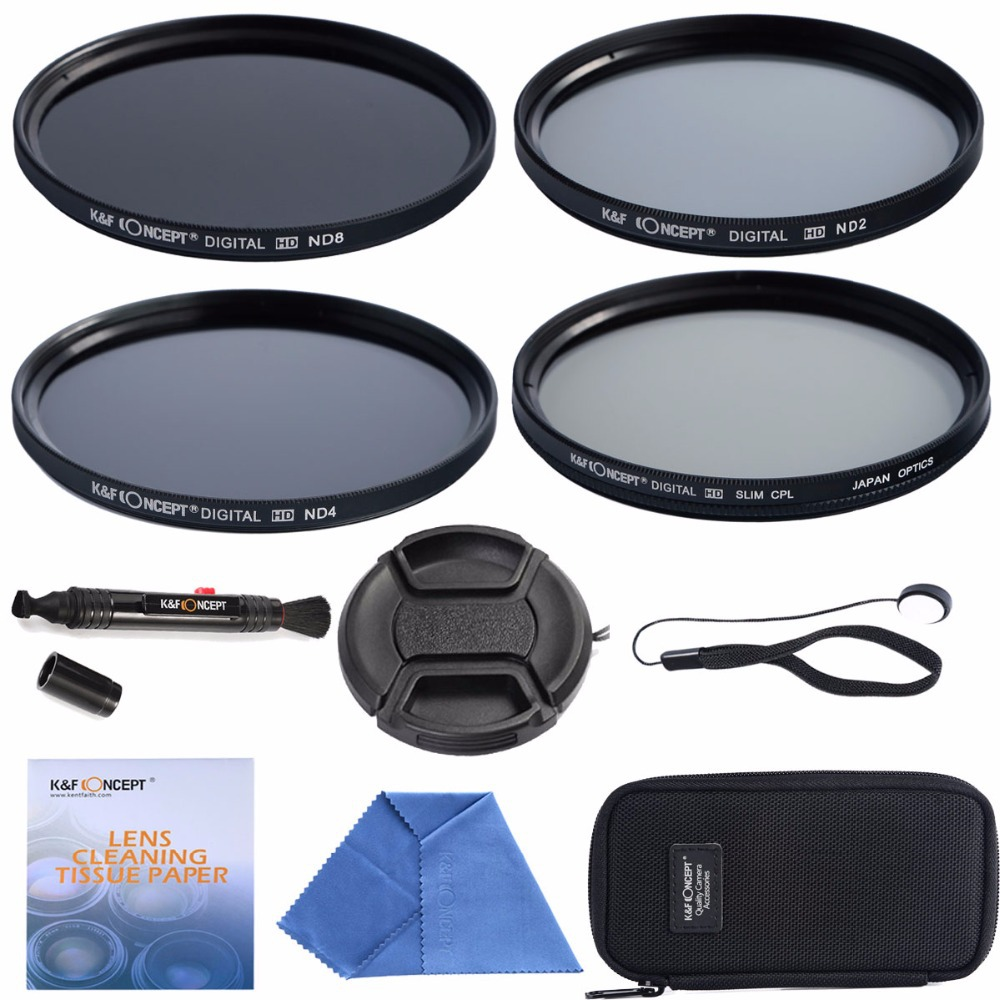 58mm CPL + ND2 ND4 ND8+Cleaning kits+ pouch bag Filter Kit Lens Filter Kit for Nikon D7100 D7000 D3100 D3000 Dslr Camera(China (Mainland))