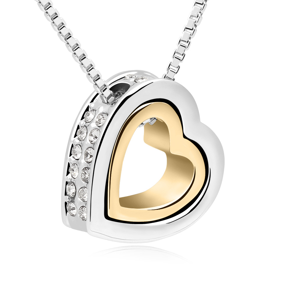 New Fashion Austrian crystal pendant Necklace &amp;18 Gold Plated jewelry--Forever Love<br><br>Aliexpress