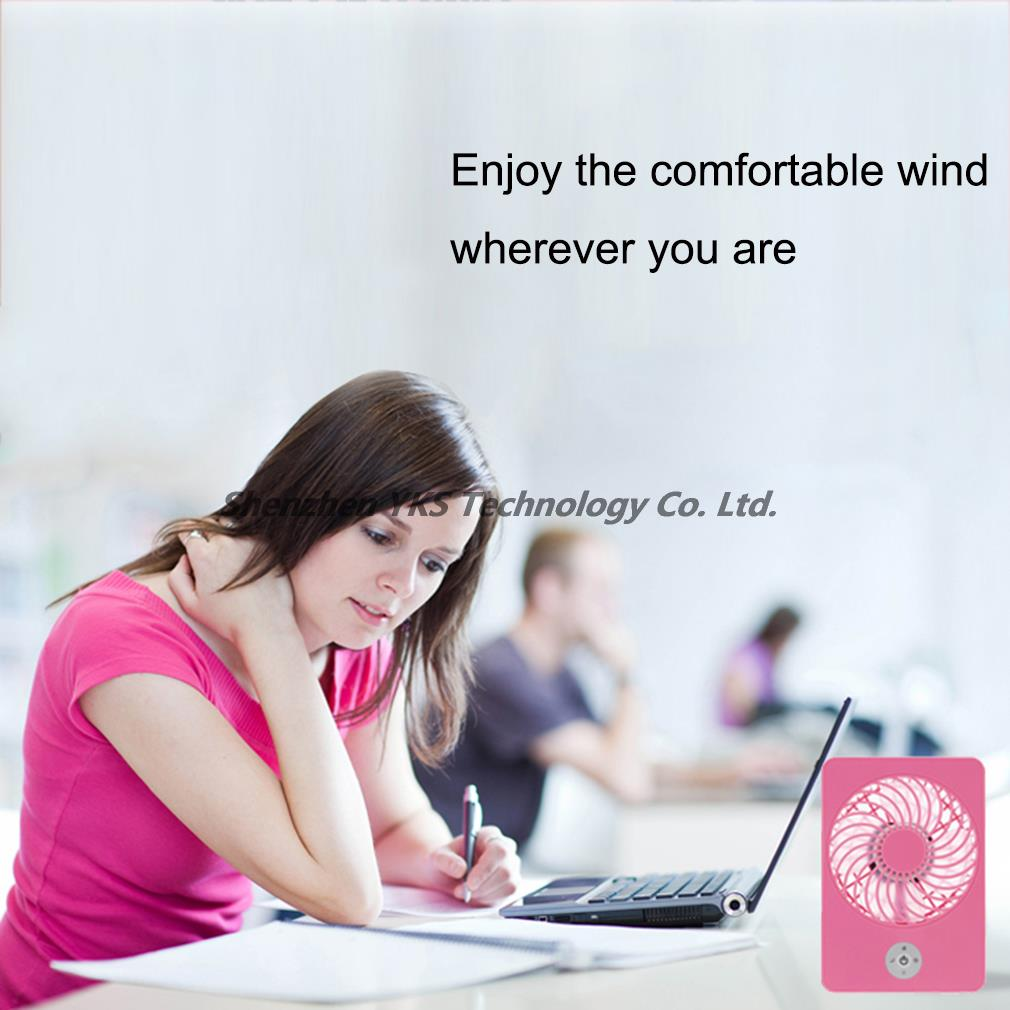 High quality free shipping New Portable Handheld computer USB gadget Mini Air Cooler Fan With 18650 Rechargeable Battery YKS(China (Mainland))