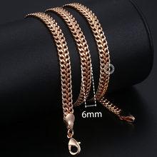 Spersonalizuj naszyjnik dla kobiet mężczyzn 585 różowe złoto wenecki ograniczenia ślimak ber Link naszyjnik łańcuszkowy moda biżuteria 50cm 60cm CNN1(Hong Kong,China)