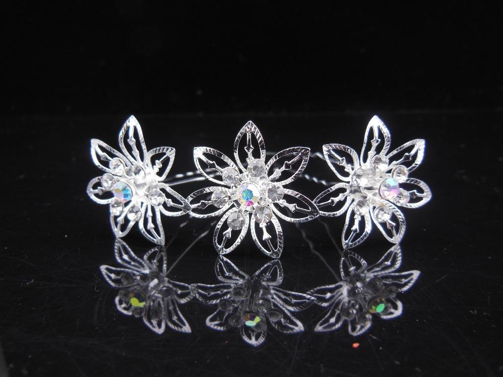 120 Pcs Bridal Pageant Rhinestone Crystal Wedding Prom Princess Hair Pins Hair Clips Hair Accessory<br><br>Aliexpress
