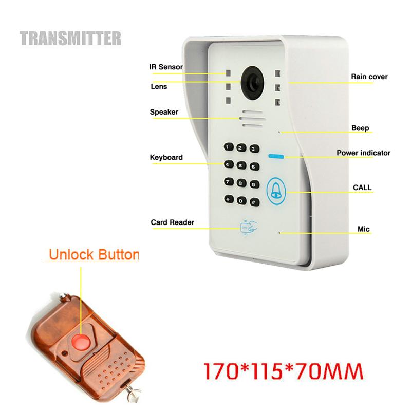ENNIOHome Alarm System P2P Wireless WiFi Video Door Phone Intercom IR Remote Unlock By Smart Phone With Wireless Door Sensor(China (Mainland))