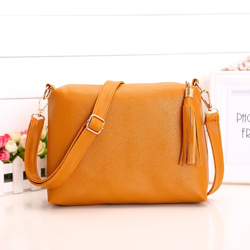 New Fashion Tassel Shoulder Bags Fringe Bolsas 2015 Brand Designer Women's Leather Handbags Crossbody Messenger Bag SG400(China (Mainland))