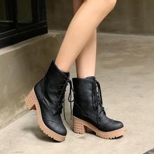 2015 marca impermeables botas de mujer de Cuero Genuino cómodo negro de calidad de invierno botines mujeres botas zapatos de la nieve(China (Mainland))