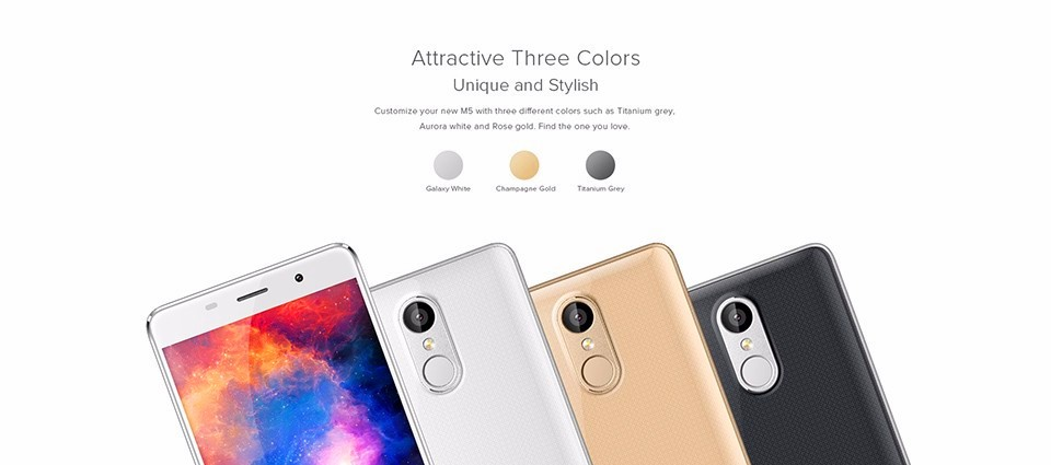 Original Leagoo M5 Smartphone 5.0 Inch Android 6.0 MT6580A Quad Core Mobile Phone 2GB RAM 16GB ROM 8.0MP Fingerprint Cell Phone
