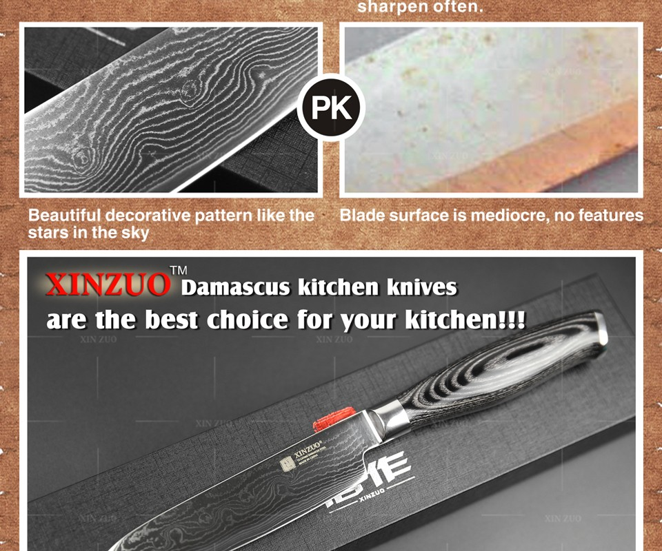 "Buy XINZUO 5""  Japanese chef knfie 73 layers VG10 Damascus steel kitchen knives chef santoku knife forge wood handle free shipping cheap"