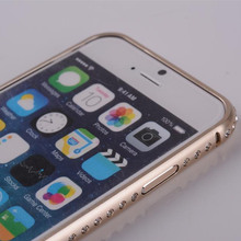 New Luxury Crystal Rhinestone Diamond Bling Metal Case Aluminum Frame Bumper for iPhone 6 4.7 for iPhone6 Plus
