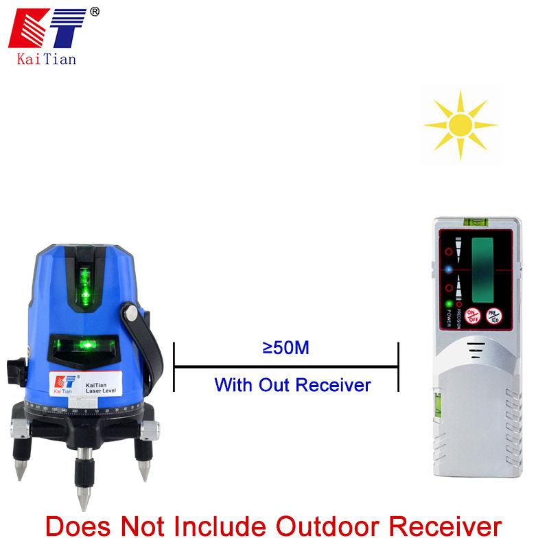 Купить KaiTian Зеленый Лазерный Уровень Штатив Наклон Функции Евровилкой 635nM Лазерный Уровень 5 Линии 6 Очка Самовыравнивающийся Креста Уровня