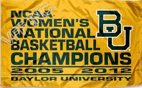 Baylor University Flag NCAA 2012 Womens Champions Flag 3ft x 5ft Polyester Banner Flying 150* 90cm Custom flag sport BU03(China (Mainland))