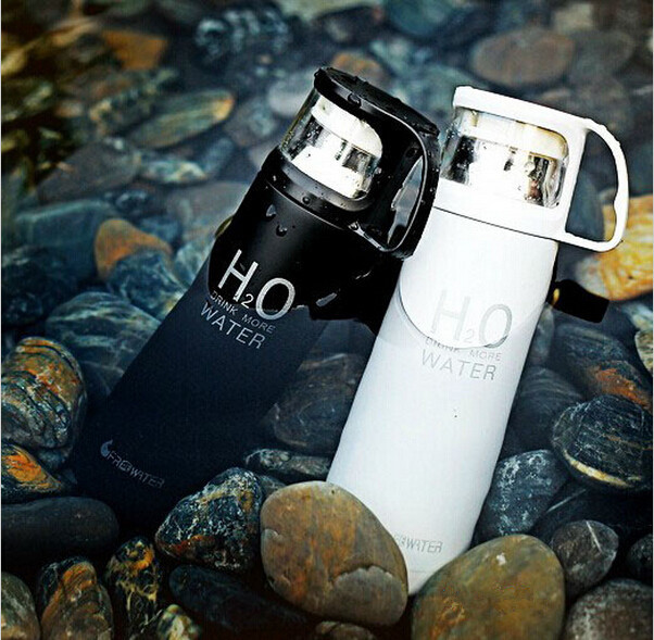 500ml Water Bottle H2O Stainless Steel Thermos Vcauum Flask Water Bottle Thermos Garrafa Termica Infantil inox Caneca Thermos(China (Mainland))