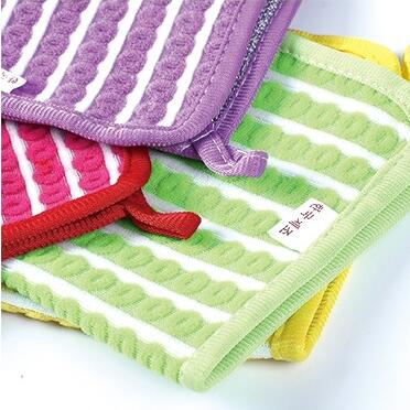 10pcs/lot New Eco-Friendly Washing Towel Magic Kitchen Cleaning Wiping Rags No Oil Rag Furniture Kitchen Cleaning Product Cloths(China (Mainland))