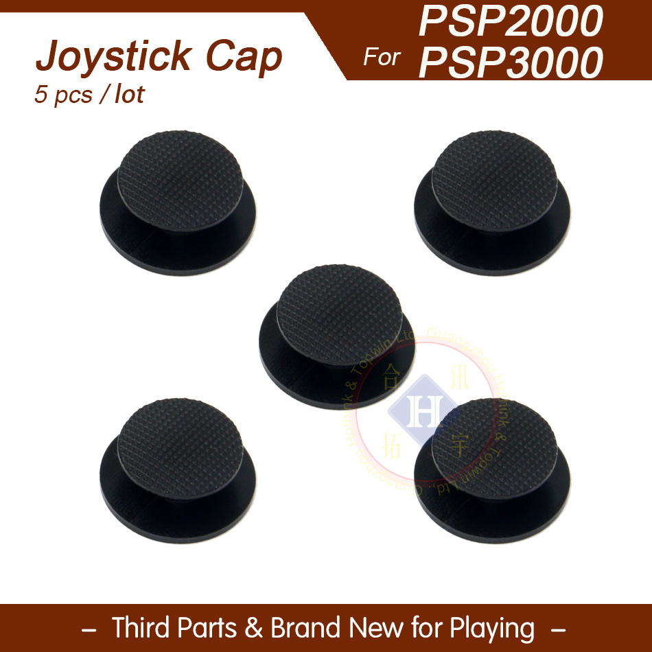 5pcs/lot New Black Replacement 3D analog joystick Button cover cap For PSP 2000 / PSP 3000 PSP 3001 3004(China (Mainland))