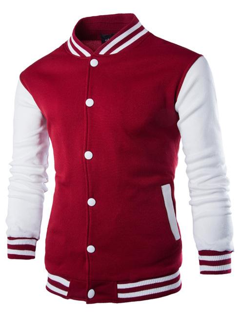 30% Off Fashion Men's Baseball Jacket Red Men Outerwear Sunshine Boy Style CG-ZT-W68(China (Mainland))