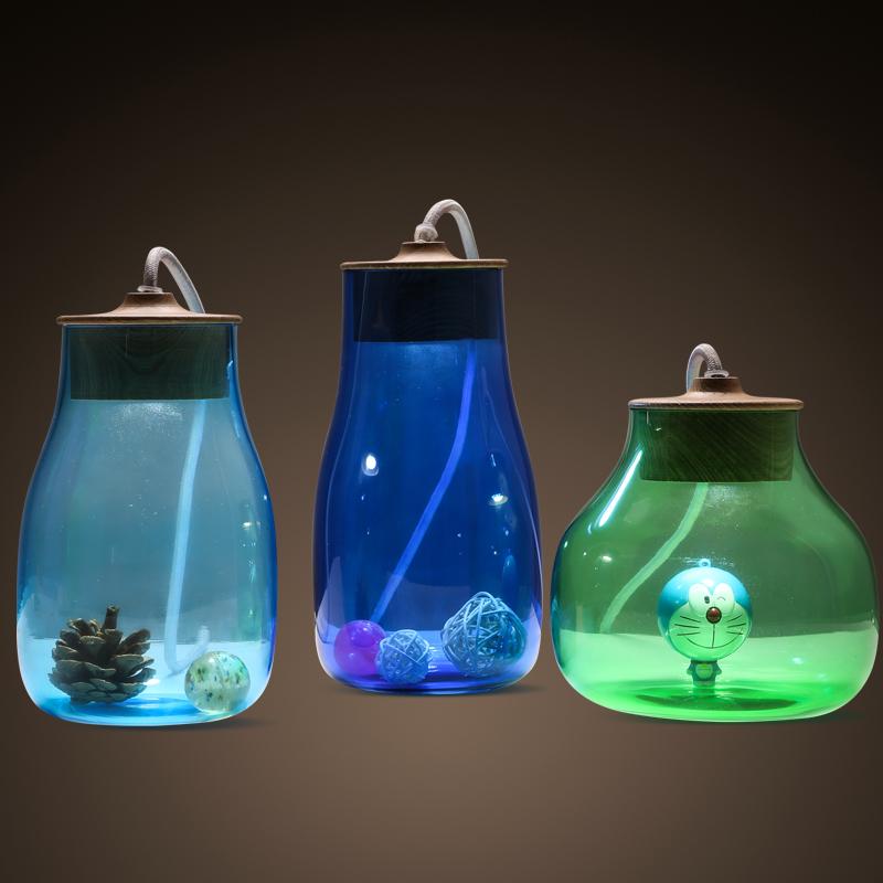 bocal en verre transparent lampe promotion achetez des bocal en verre transparent lampe. Black Bedroom Furniture Sets. Home Design Ideas