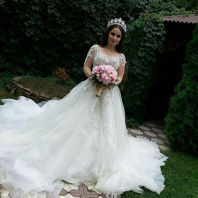 Aliexpress.com: Acheter Princesse liban robe de mariée à manches ...
