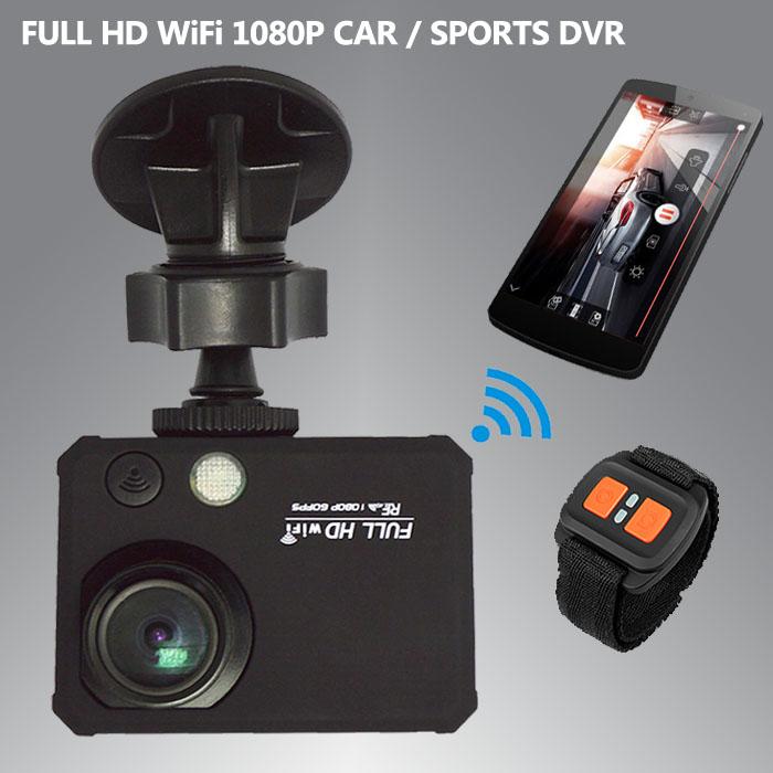 "Multifunction WiFi Full HD 1200Mega Pixels Car / Sports Action Camera Recorder Car DVR 2.0""TFT LCD Screen 170 Degree View Angle(China (Mainland))"