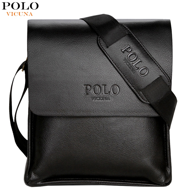 VICUNA POLO Famous Brand Leather Men Bag Casual Business Leather Mens Messenger Bag Vintage Men's Crossbody Bag bolsas male(China (Mainland))