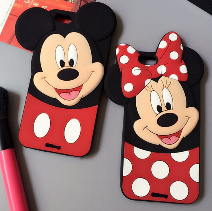 Cute 3D Cartoon Mickey Minnie Mouse bow-knot Soft Silicone Case For HTC Desire 626 626S 626G 626W Fundas Rubber Cover Phone case(China (Mainland))
