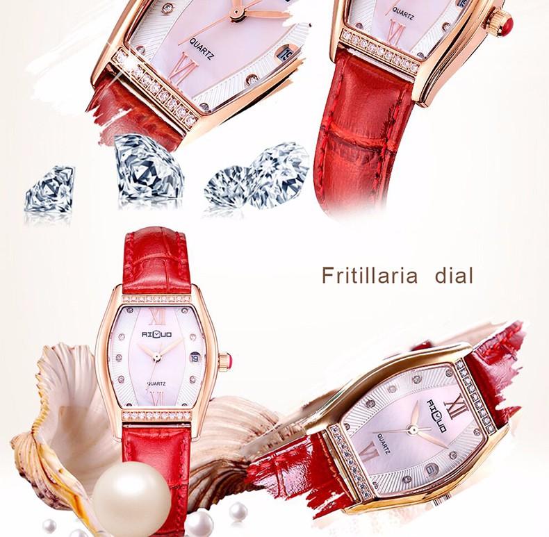 Ailuo Эксклюзивная Модная Дамы Платье Часы Женщины Элегантный Glory Кварцевые Часы Ретро Алмаз Наручные Часы Водонепроницаемые 50 М