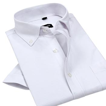 Оксфорд мужчины рубашки 2015 новый летний формальные мода с коротким рукавом тонкий ...