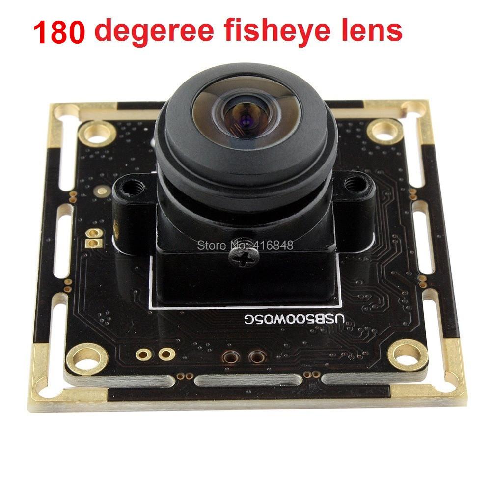 1/2.5 Aptina MI5100 Color CMOS Sensor 180 degree fisheye Lens 5MP 2592X1944 MJPEG YUY2 HD wide angle USB CCTV Camera board<br><br>Aliexpress