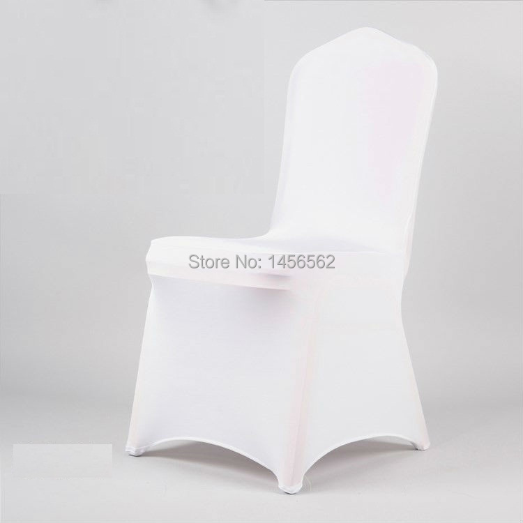 Lycra chair cover,white colour,200grams,reinforced elastic feet pocket,flat front FREE SHIPPING(China (Mainland))
