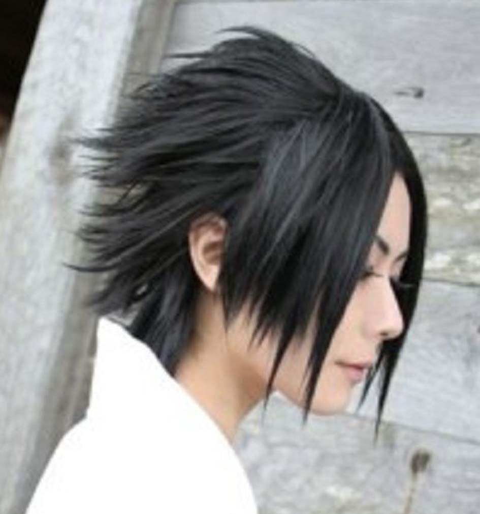 New Hot sale Naruto-Uchiha Sasuke Black Cosplay Costume Wig Sasuke Wig Synthetic Wigs Naruto Wig Cosplay Sasuke(China (Mainland))