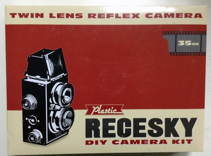 Freeshipping 1pc Retail and wholesale DIY 35mm Film Recesky Twin Lens Reflex Camera /Vo.125 LOMO camera