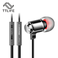 2016  Metal Zipper Earphone 3.5mm Connector with Micr Stereo Bass In-Ear Wired Ear Phones Headset For Mobile Phone MP3/4