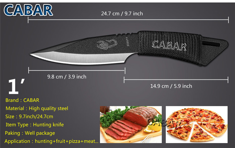 CABAR 2015 New Arrivals Hunting Camping Diving Outdoor Knife Top Quality Knife 1 Set 3 Knives