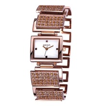 WEIQIN Relogio Feminino Luxury Brand Women Dress Watches Full Steel Quartz Watch Diamonds Gold Watches For Women Waches Relojes