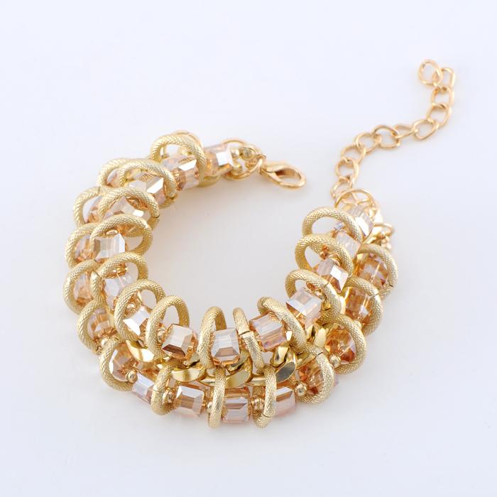 Brand Fashion Double Crystal Chain Bracelet Women Elegant Bracelets Bangles Classic Jewelry - CC Factory store