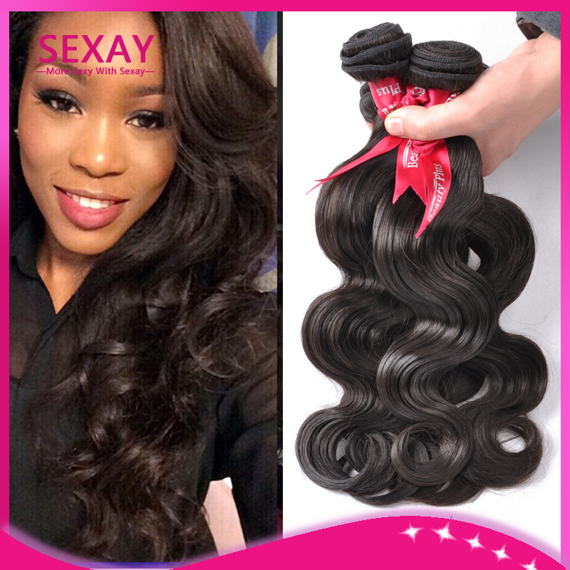 Sexay hair Brazilian body wave virgin hiar 4pcs 6a unprocessed human hair extensions 100% real Brazilian wave weave 100g bundles(China (Mainland))