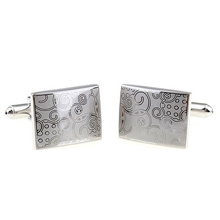 High Quality Laser Series Vintage Decorative Pattern Male Brief French Square Cufflinks Nail Sleeve(China (Mainland))