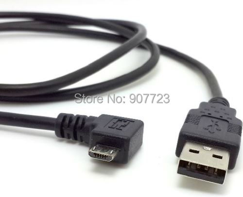 Right angled 90 degree Micro USB Male to USB Data Charge Cable