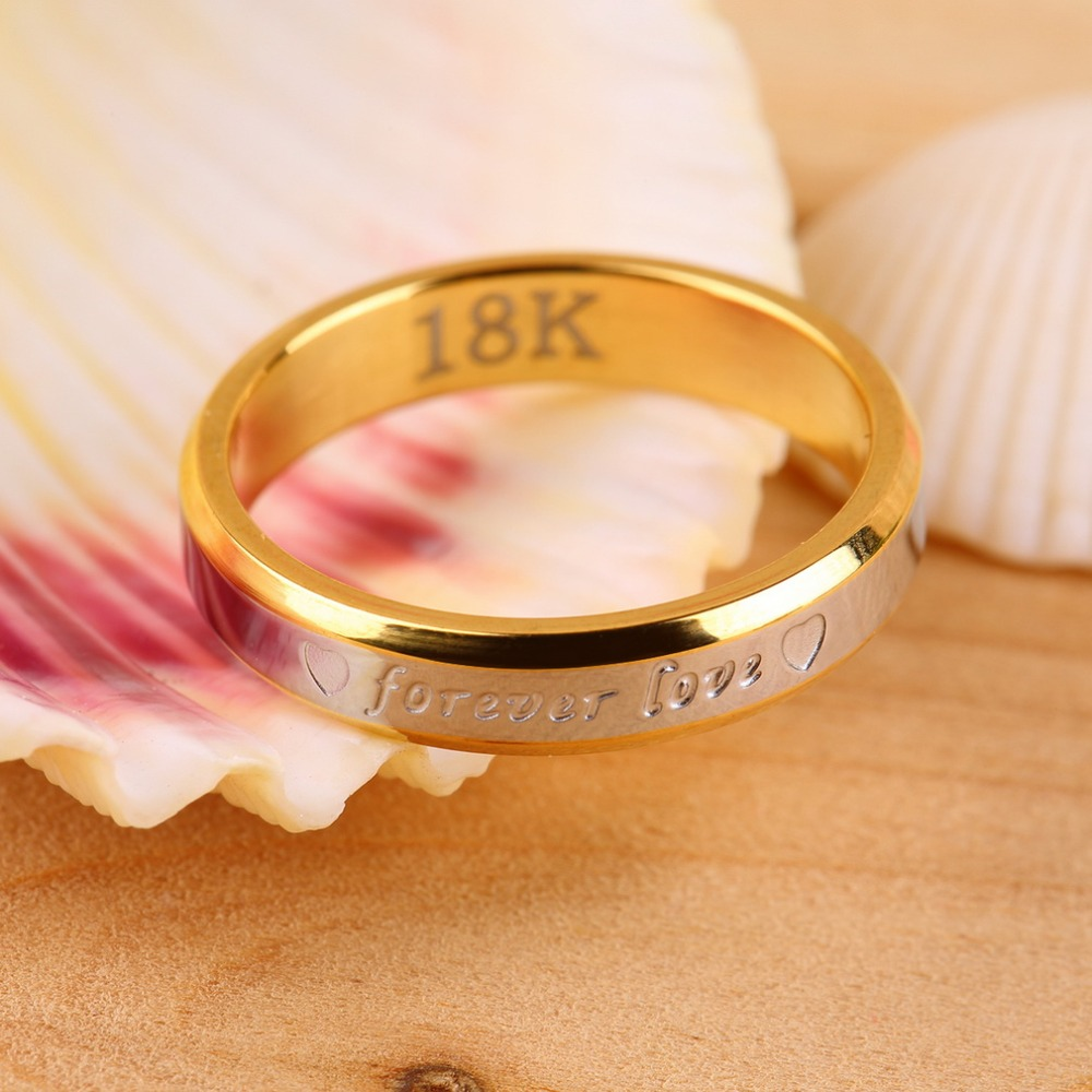 Fashion beautifully crafted commitment of time Forever Love Lovers Couple Matching Ring Steel Finger Ring Jewelry ! Hot Selling(China (Mainland))