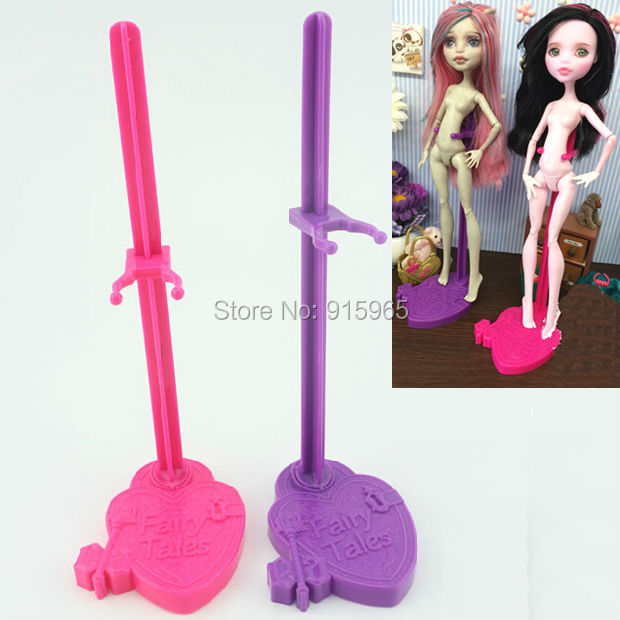 wholesale 100pcs/lot pink purple blue Stand for Monster High dolls stand Display Holder For Ever After High doll accessories<br><br>Aliexpress