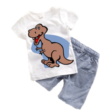 Buy Children Kids Suits Summer 2017 New Cartoon Baby boys clothes Toddler boy clothing sets Character Kids clothes Cute Animal T15 for $6.32 in AliExpress store
