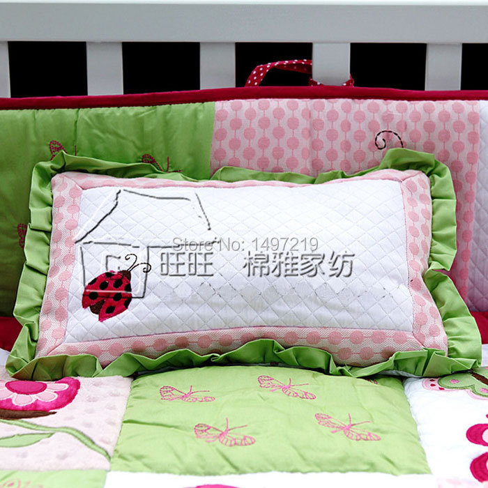 PH029 pink child crib linen set (3)
