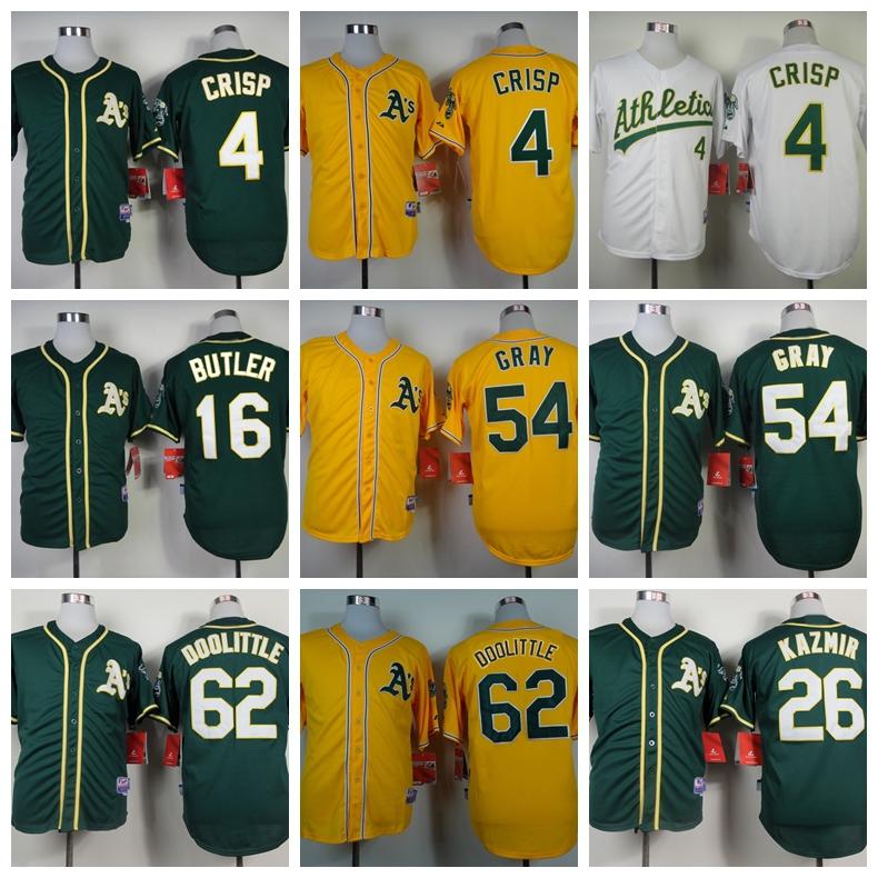 Cheap Oakland Athletics Baseball Jersey 4 Coco Crisp 62 Sean Doolittle 54 Sonny Gray 26 Kazmir 16 Billy Butler Cool Base Jersey<br><br>Aliexpress