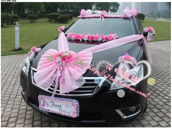 D coration florale de voiture achetez des lots petit - Decoration de voiture de mariage a petit prix ...
