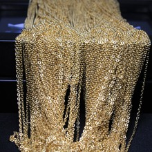 Buy 2 meter lot Fashion Women Curb Chain Imitation KC Rose Gold Plated Chain 1mm NO Clasps Fit Necklace Bracelet DIY Jewelry Making for $1.19 in AliExpress store
