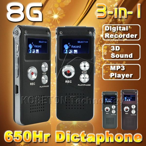 8GB Mini USB Flash Pen Disk Drive 8G Digital Audio Voice Recorder 650Hr Dictaphone 3D Stereo MP3 Player Grabadora Gravador