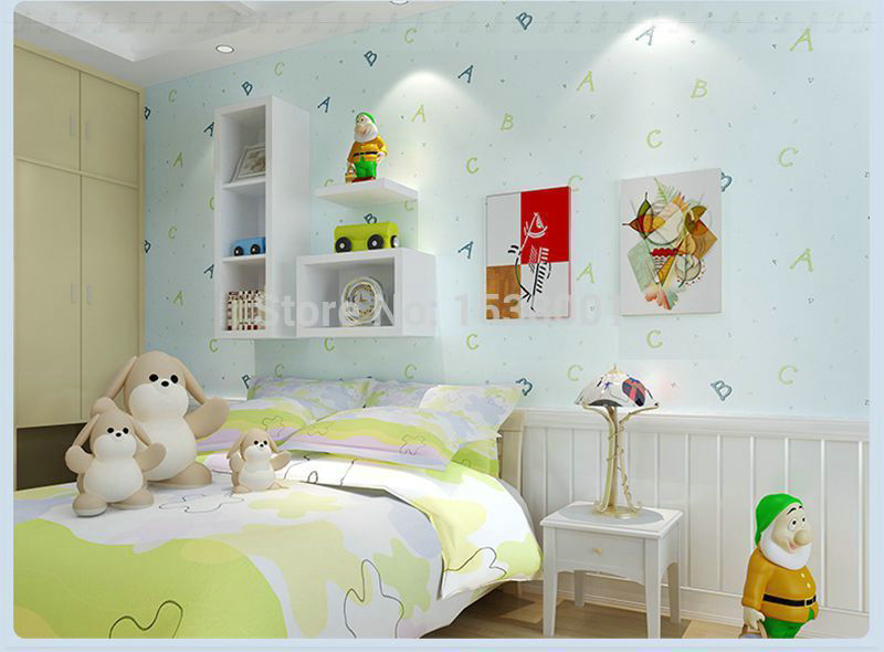 Buy puzzle abc kids bedroom light blue - Red and light blue bedroom ...
