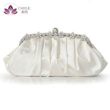 2016 New Style Hot Sale European Women Handbag Silks And Satins Eveningbag Austria imported rhinestone fashion protable(China (Mainland))