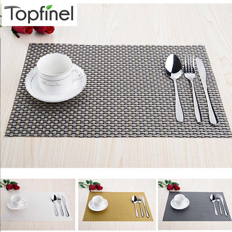 Top Finel Set of 8 PVC Decorative Weave Vinyl Placemats  : Top Finel Set of 8 PVC Decorative Weave Vinyl Placemats for Dining Table Linen Place Mat from www.aliexpress.com size 800 x 800 jpeg 248kB