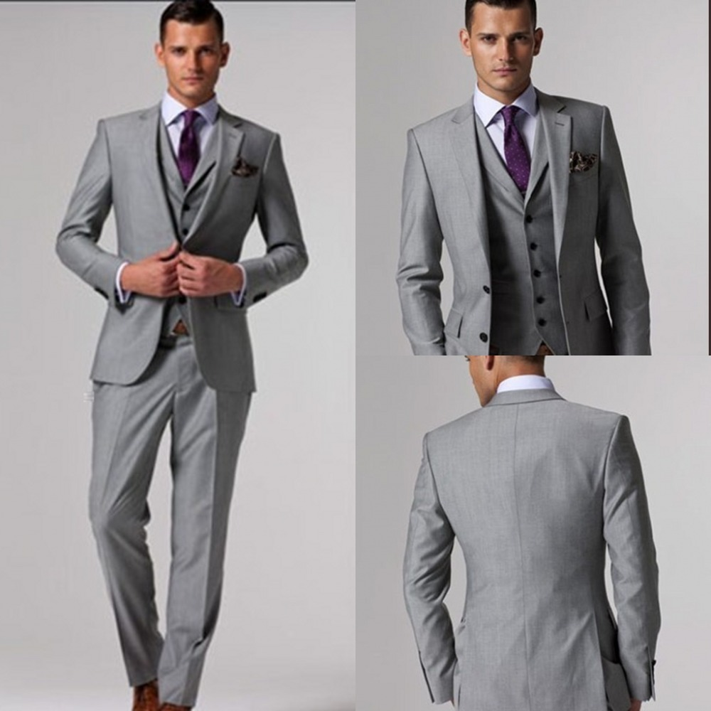Mens Gray Suits In Weddings - Ocodea.com