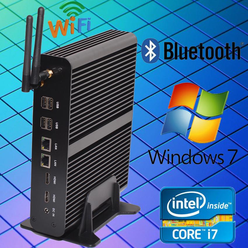 HYSTOU Intel Core i7 5550U Mini PC Dual LAN Gigabit NIC Windows 10 Mini-Itx Micro PC 8*USB Ports Broadwell Intel Mini PC Win 10(China (Mainland))