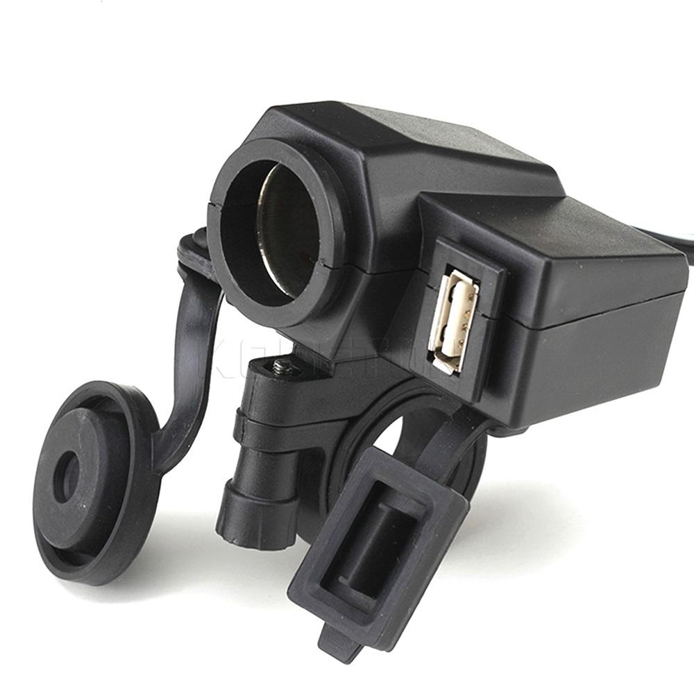 New Waterproof power socket usb for motorcycle Motorbike 12 V Cigarette Lighter 5V USB Power Port Ad