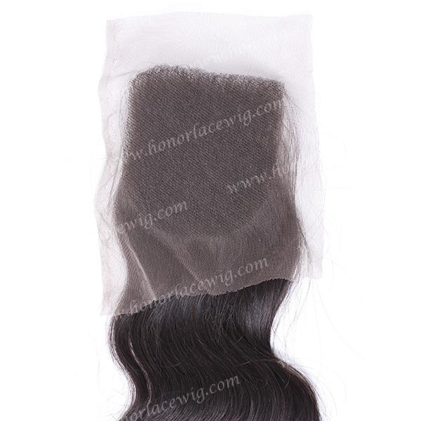In stock factory price 6a brazilian hair piece unprocessed virgin brazilian hair closure HP40